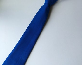 Boys Neck Tie, Infant Velcro Tie, Toddler Neck Tie, Baby Necktie, Royal Blue Tie