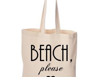 BEACH PLEASE TOTE.