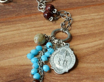 Religious jewelry Catholic necklace, Virgin Mary Necklace, Sacred Heart Necklace, Catholic Jewelry, Our Lady of Fatima, Catholic gift