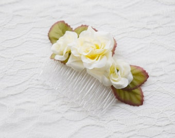 Rose Hair Comb, flower hair comb, hair accessories, wedding hair accessories, autumn accessories, rustic wedding, woodland wedding