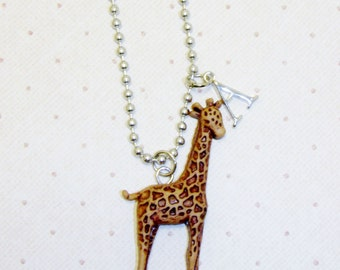 Giraffe Necklace With Initials, Giraffe Jewelry, Animal Lover, Zoo Animals, Wild Animals