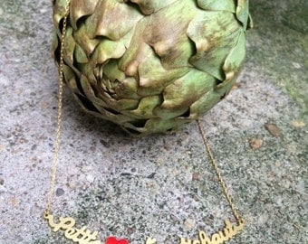 Necklace sentence little heart of artichoke