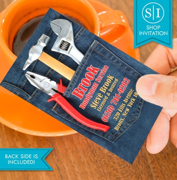 Handyman Business Card Free Shipping