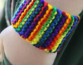 Artsy rainbow pride wristband