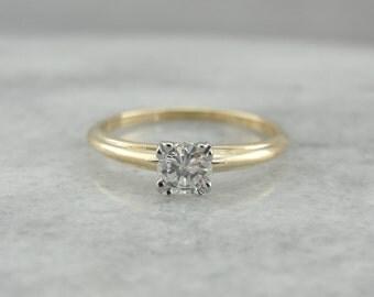 Vintage Engagement, Early Retro Era Diamond Solitaire  VWEH6N-R