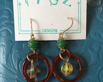Onyx and Swarovski Crystal Earrings
