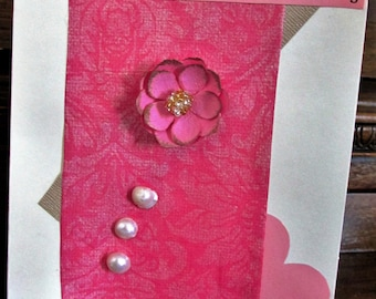 Pink & Pearls Mother's Day Card