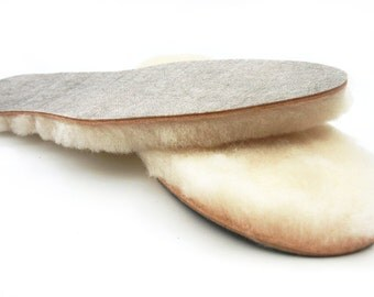 Portuguese Thick Sheepskin Lambswool Insoles Insole vegetable tanned