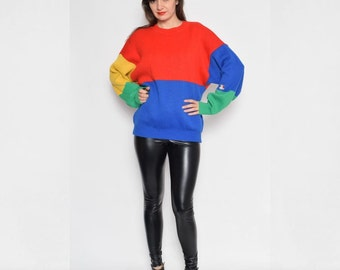 Vintage 80's Color Blocking Sweater