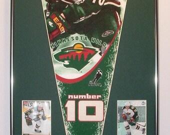 Minnesota Wild Marion Gaborik Pennant Pennant & Cards...Custom Framed!