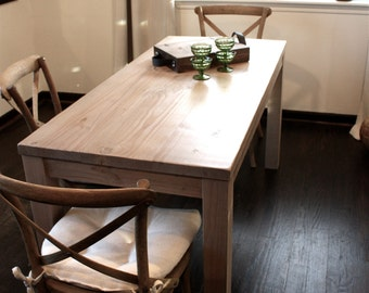 Reclaimed Wood Parsons Dining Table