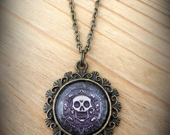 Disney's Pirates of the Caribbean Pirate Medallion Necklace