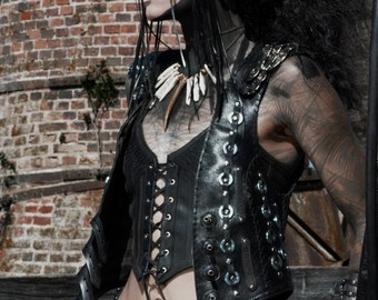 Heavy Metal Apocalyptic Vest Made from Recycled Materials