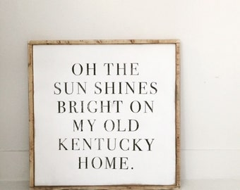 My Old Ky Home Large Frame