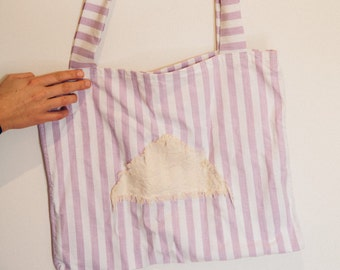 THE TAMMY TOTE - Handmade tote bag from fabric scraps and offcuts
