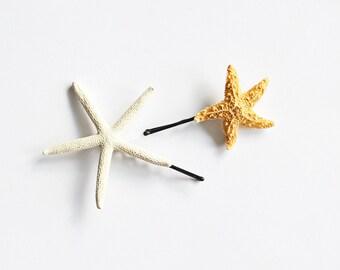 Set of 2 Assorted Starfish Mermaid Hair Bobby Pin - Mermaid Hair Accessories, Ariel Hair, Starfish Hair Accessories