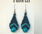Earrings tutorial, macrame pattern, macrame earrings, macrame instructions, earrings instructions, Do it yourself, jewelry tutorial,