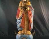 Virgin Mary Santos, Colorful Spanish Colonial Religious Art