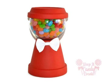Gumball Machine Centerpiece, Candy Machine Centerpiece, Faux gumball machine, birthday centerpiece, candy buffet, sweet sixteen decoration