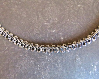 Antique Victorian Sterling Silver Serpentine Necklace - Late Victorian to Early Edwardian