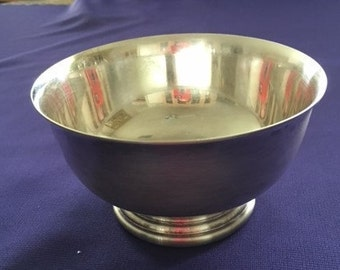 Vintage Silverplate Small Pedestal Bowl By GORHAM E-ANCHOR-P  YC778