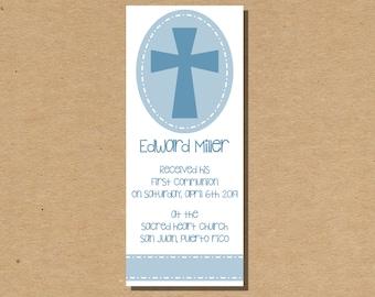 First Communion Printable Bookmark 1st Communion Favor Thank You Communion Bookmark Digital File