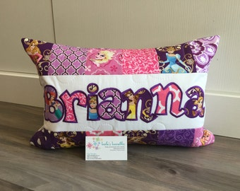 Princess Pillow case, 12x18 inch, made from licensed fabric.