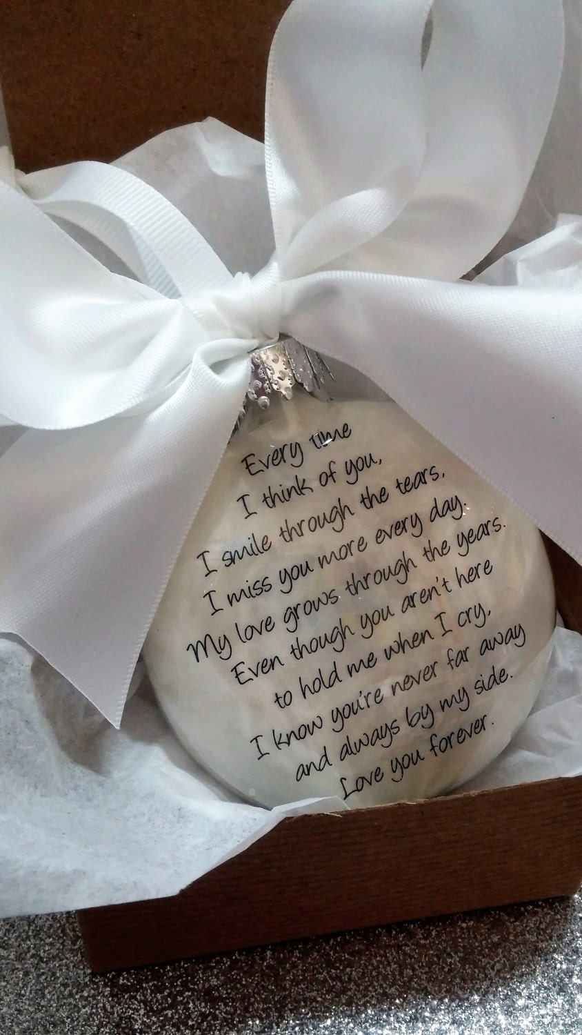 Memorial Ornament In Memory Gift Loss of Husband Loss of Wife