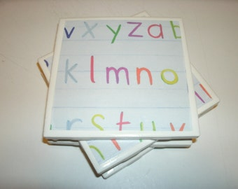 Teachers Gift Coasters - Holiday Coasters - Drink Coasters - Decorative Tile Coasters - Furniture Coasters - Seasonal Coasters - Home Decor