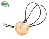 Oat grass pendant necklace, agriculture nature jewellery, gift for plant biologist, wild grass seed necklace