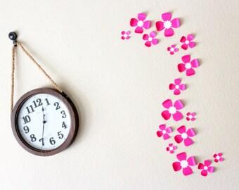 Wall flower decorations my web value 3d flower wall art pink flower wall art paper flower wall art flower mightylinksfo