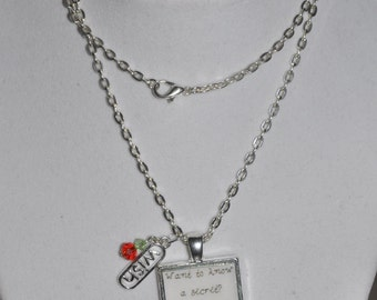 Snow White Wishing Well Secret Apple Necklace #27