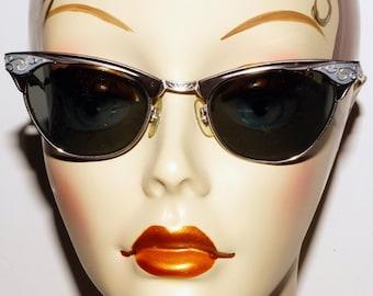 1950s Cat Eye Sunglasses Vintage Retro