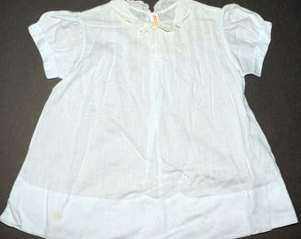1950s Baby Dress Pintucked Embroidered Vintage Retro Baby