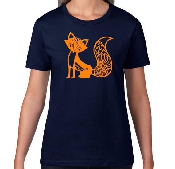 Fox tshirt cute fox t shirt cute animal tshirt forest for Animal tee shirts online