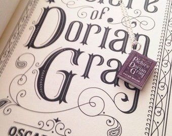 Handmade The Picture Of Dorian Gray Book Necklace // Oscar Wilde Novel // Mini Book Necklace