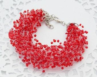 Beaded bracelet red bracelet for women jewelry love bracelet red wedding be my valentine girlfriend jewelry love jewelry valentine bracelet