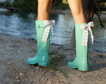 Personalized Rain Boots. Choose bows & monogram by GoslingBoots
