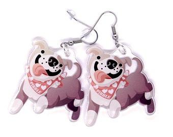 Cute Pit Bull Earrings, Cute Pitbull earrings, Pit bull jewelry, Dog lover, Pit Bull Owners, Pibble, Pibbles, kawaii, Pitbull
