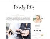 Beauty Blog Premade Blogger Template  - Blogger Theme - Responsive Blogger Template - Minimalist Template - Lifestyle Photographer