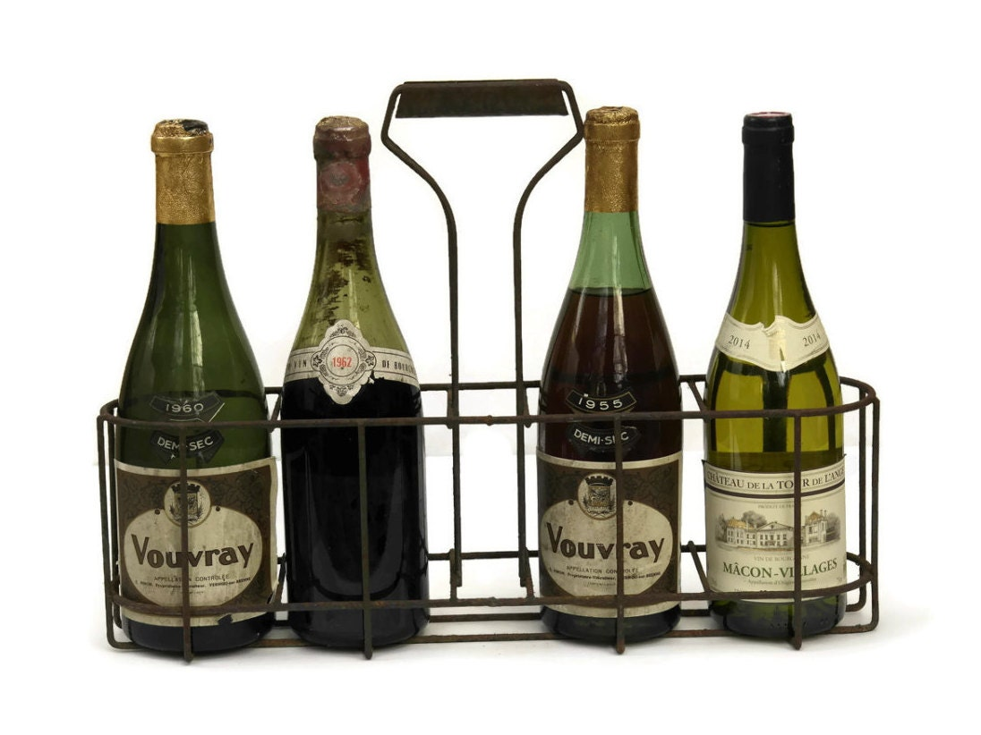 Rustic French Bottle Carrier French Wine Bottle Holder