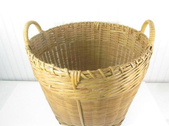 Vintage Basket Wicker Basket Shabby Chic Decor French
