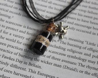 Black Magick bottle necklace