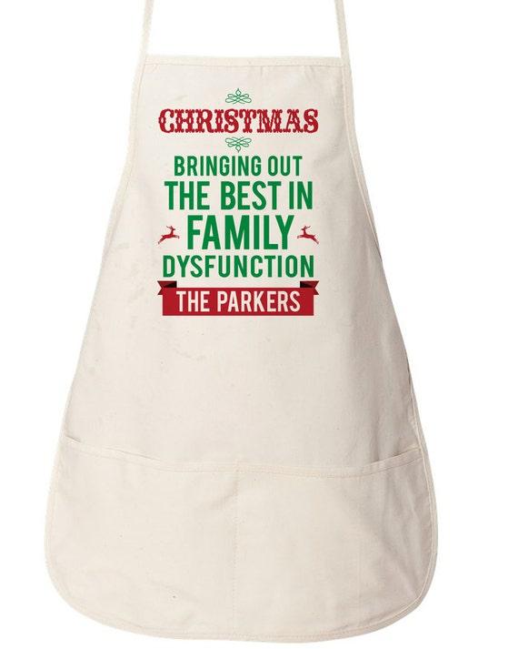 Items similar to christmas apron custom