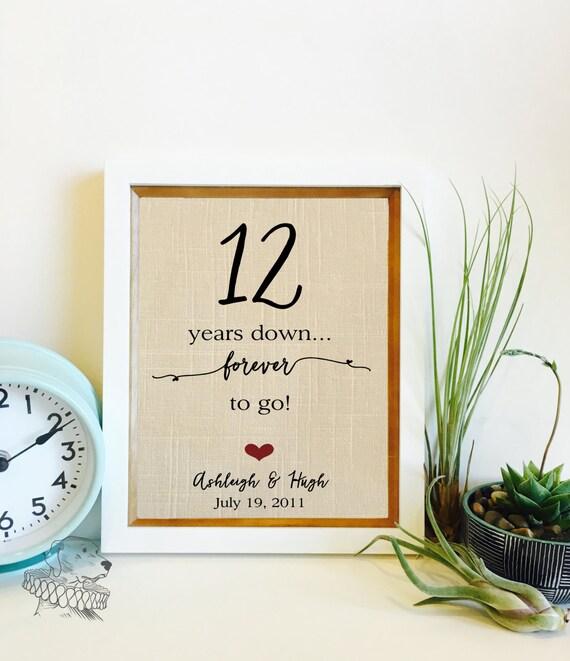 12 Year Wedding Anniversary Gifts: 12 Year Anniversary Gift Linen Anniversary 12th