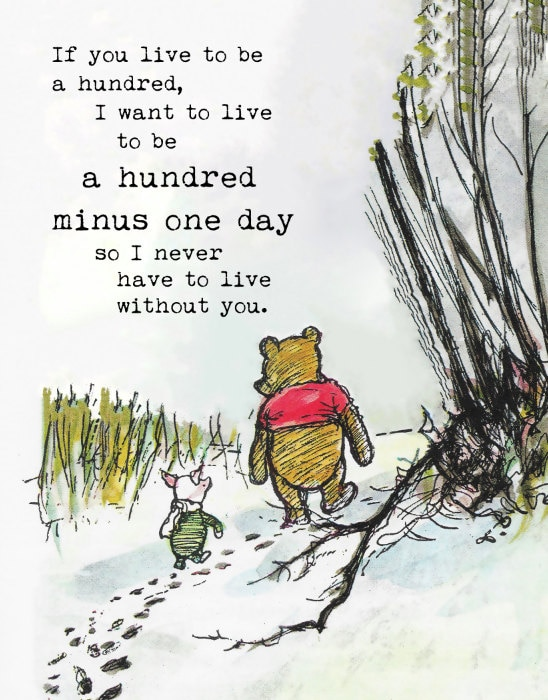 Winnie The Pooh Quotes If You Live To Be A Hundred I