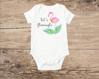 Flamingo Toddler Clothes Watercolor Flamingo Bodysuit
