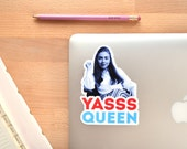 Hillary Clinton YASSS QUEEN Vinyl Sticker Decal