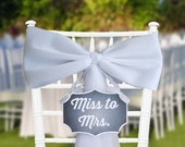 Bridal Shower Decoration, Bachelorette Decoration, Miss to Mrs, Bridal Shower Sign, Bachelorette Sign, Rustic Bridal Shower, Various Colors,