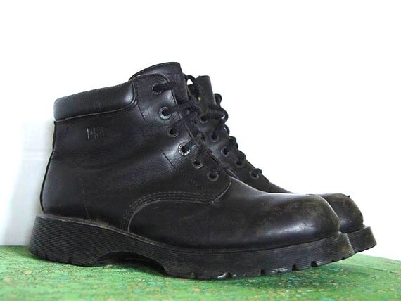 vintage doc marten six black boots size 11 uk 12 us